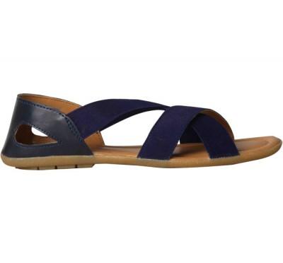 Burnet Women's Burst - Jubilation Flat Sandal, Negro / Blanco, 11 M US