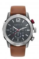 5c43082d015 ESPRIT Mens Quartz Watch Chronograph Display and Leather Strap ES109171004