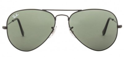 14939888da1 Ray-ban rb3025 0025 size 55 black dark green aviator mens sunglasses