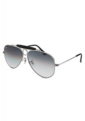 c324974b9b28 Ray-Ban RB3138-003-32 Aviator Shooter Silver-Tone Sunglasses
